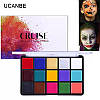 """15 цветов масляные краски для боди-арт для лица, тела: макияж на вечеринку """"Cruise UCANBE"""" make up 80 грамм, фото 6"""