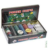 Фишки для покера 300 фишек, покер, фото 1