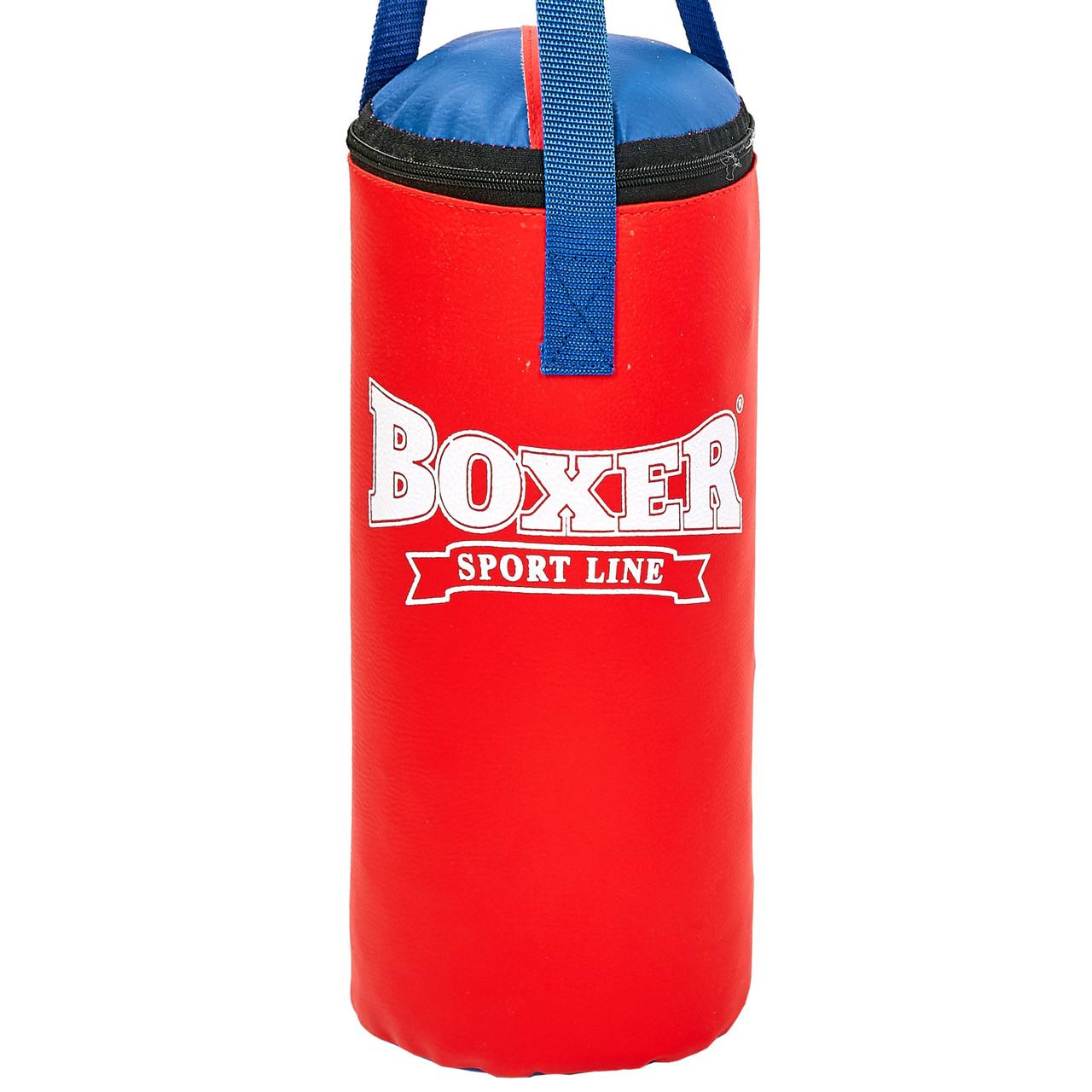 Мешок боксерский Сувенирный Кожвинил h-35см BOXER (наполнитель-древесные опилки, h-35см, d-18см, вес 5кг,