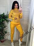 Женский вязаный костюм со штанами и принтом на кофте 710566, фото 2