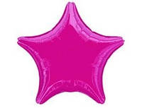 Шар звезда без рисунка разноцвет, надута гелием.
