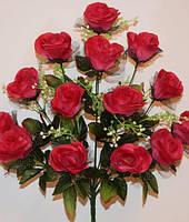 Букет Роз с вуалью не требует распарки 14 голов 55 см высота
