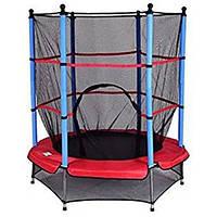 Детский батут Atlas Sport 140 см с защитной сеткой для детей (дитячий з захисною сіткою для дітей), фото 1
