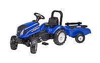 Детский трактор на педалях с прицепом Falk  New Holland  3080AB