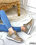 Очень крутые бежевые женские кроссовки, фото 3