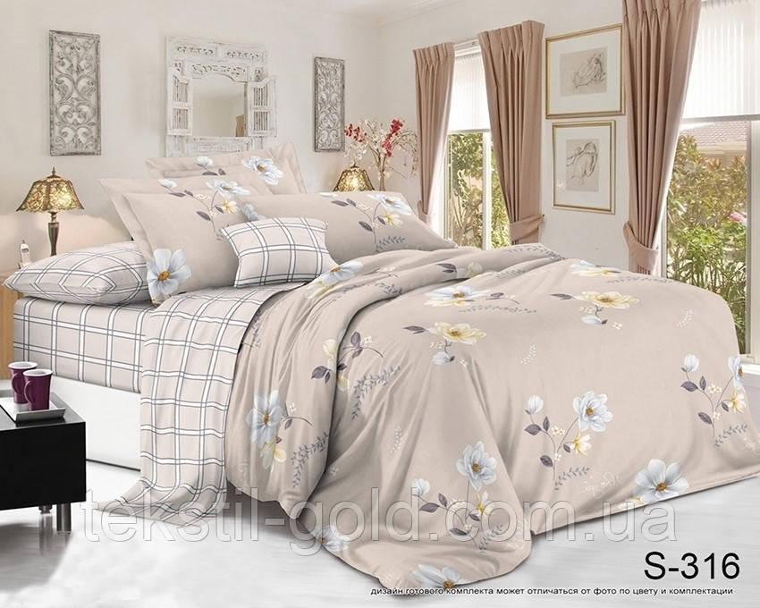 2-сп. комплект постельного белья с компаньоном  S-316 сатин хлопок ТМ TAG
