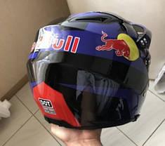 Кроссовый с визором эндуро мото шлем  Dot мотошлем Red Bull, фото 2