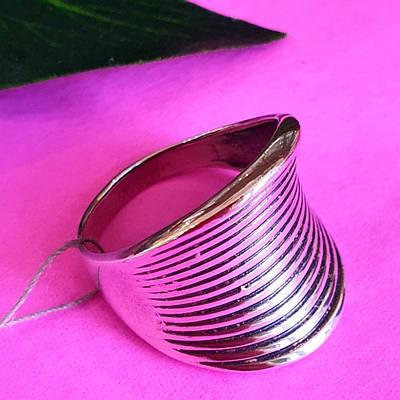 Великий перстень зі срібла - Широке срібне кільце без каменів