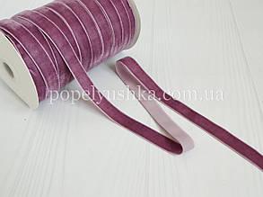 Стрічка оксамитова 2,5 см сливова