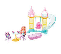 Игровой набор Оригинал Барби Дримптопия Замок русалочки Челси и ее питомца Barbie Dreamtopia Chelsea Mermaid