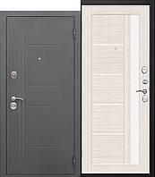 Дверь входная металлическая 7,5 см Грац муар Лиственница беж Царга