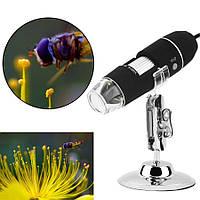 500X HD  цифровой USB микроскоп + Калибровочная линейка 8 светодиодных ламп, фото 1