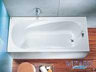 Ванна Comfort 1.7 в комплекте с сифоном Geberit 150.520.21.1 (с ножками)