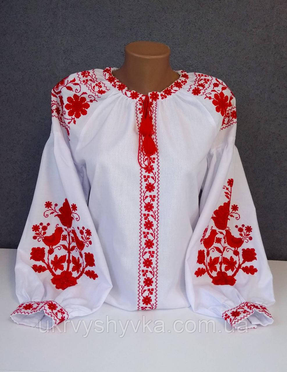"Блузка вишивана ""Червона птаха"""