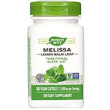 """Мелисса Nature's Way """"Melissa Lemon Balm Leaf"""" лимонный бальзам, 1500 мг (100 капсул)"""