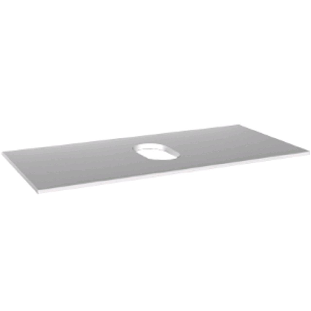 Столешница с отверстием посередине 76x1,6x36см, при использовании шкафчика под умывальник, белый
