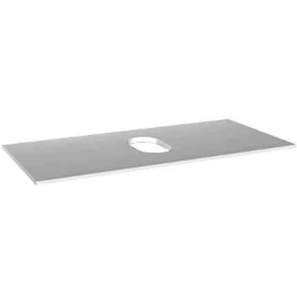 Столешница с отверстием посередине 76x1,6x36см, при использовании шкафчика под умывальник, белый, фото 2