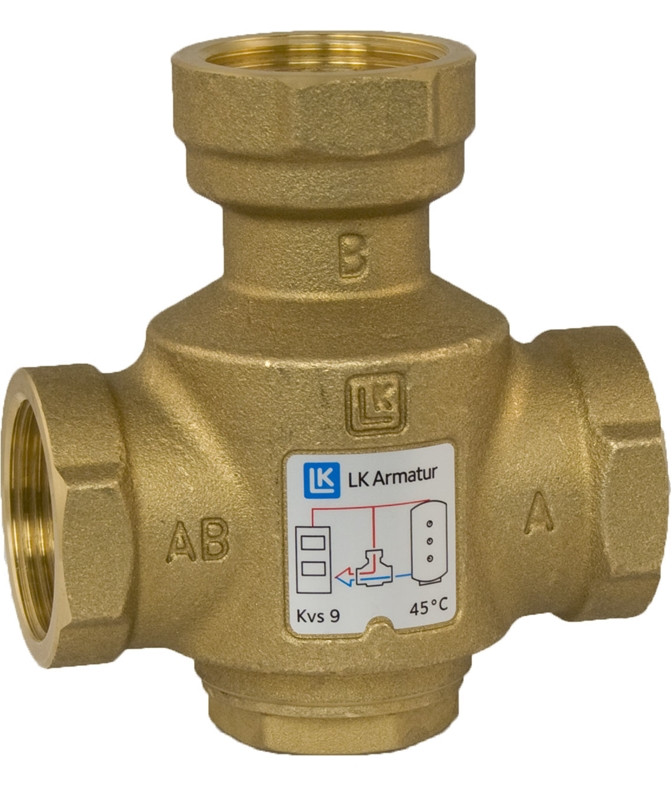 LK 823 Термический 3-ходовой наливной клапан Thermovar 1 ВВВ  55°C