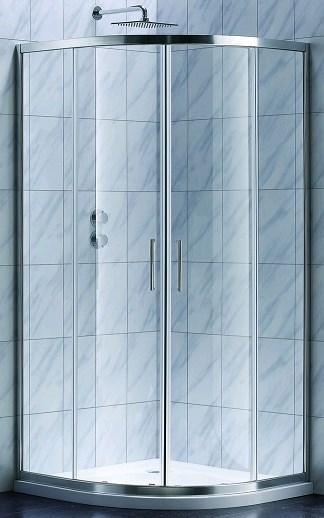 S90RG Душевая кабина STYLE полукруглая 900x900x1900 мм стекло grape