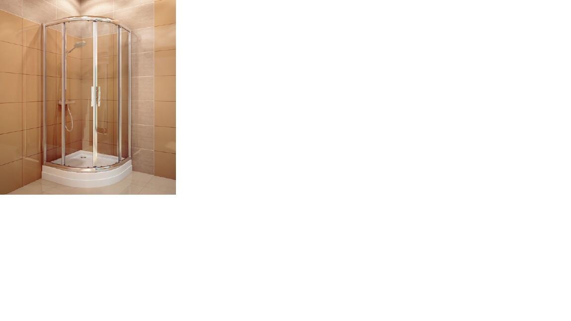 PXR2N/1000 Brillant/Transparent Душевая кабина полукруглая
