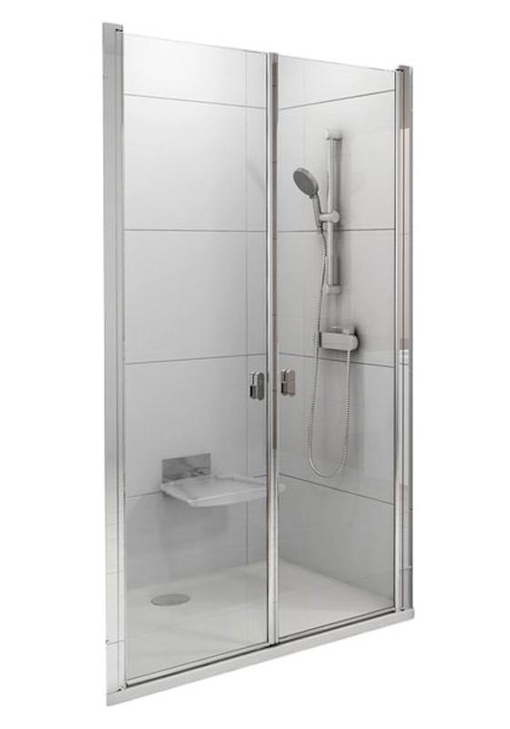 CSDL2-90 bright alu (Transparent) Душевые двери