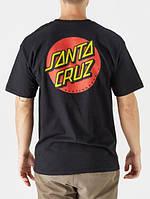 Футболка Santa Cruz Two-Sides Logo черная, унисекс (мужская, женская, детская)