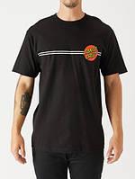 Футболка Santa Cruz Two-Sides Logo Line черная, унисекс (мужская, женская, детская)