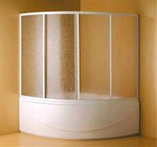 Шторка на ванну Tera 150 White/Polystyrol, фото 2