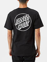 Футболка Santa Cruz Two-Sides Logo Blacl / White черная, унисекс (мужская, женская, детская)