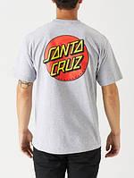 Футболка Santa Cruz Two-Sides Logo Line серая, унисекс (мужская, женская, детская)
