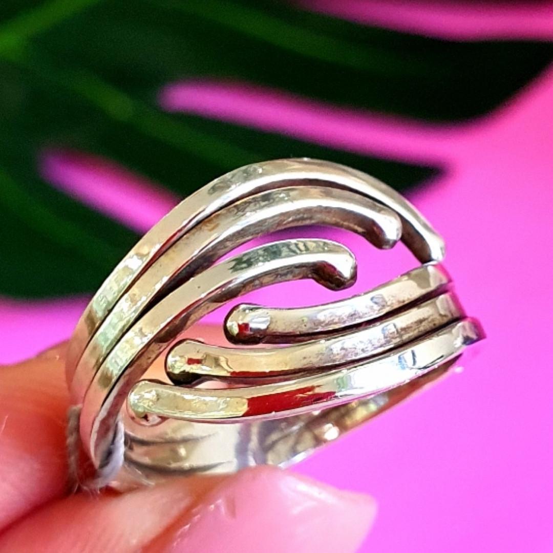 Серебряное кольцо без камней - Женское серебряное кольцо