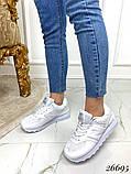 Очень крутые белые  женские кроссовки, фото 5