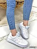 Очень крутые белые  женские кроссовки, фото 3