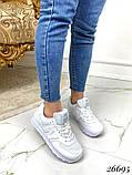Очень крутые белые  женские кроссовки, фото 6