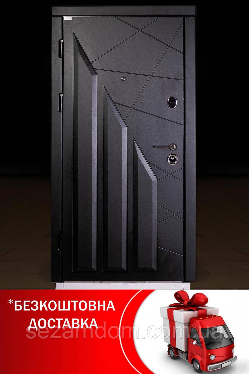 Элитная входная дверь в квартиру с металлом 2 мм.