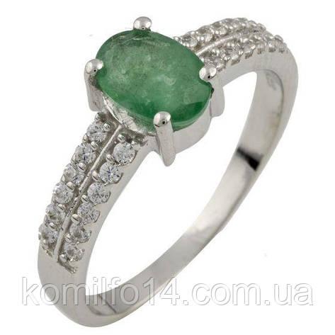 Серебряное кольцо с натуральным изумрудом, фото 2
