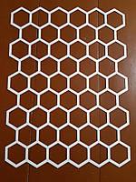Трафарет для стен из пластика шестигранник трафарет многоразовый сота