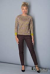 Блуза в повседневном стиле со вставкой кружева  Lesya ВЕРИНА