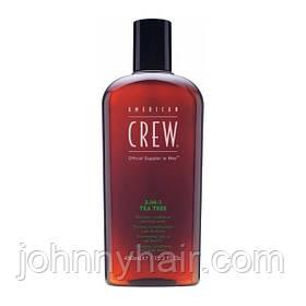 Засіб по догляду за волоссям і тілом 3-в-1 American Crew Classic Tea Tree 450 мл
