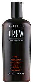 Засіб по догляду за волоссям і тілом 3-в-1 American Crew Classic 250 мл