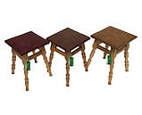 Кухонный табурет с мягким сиденьем, табуретка деревянная сиденье кожзам, фото 2