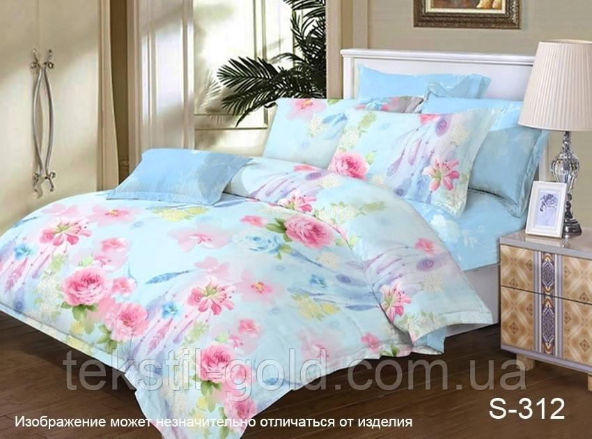 2-сп. комплект постельного белья с компаньоном  S-312 сатин хлопок ТМ TAG