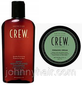 Набор American Crew: шампунь для ежедневного использования Daily (250 мл) + Крем формирующий Forming Cream (85