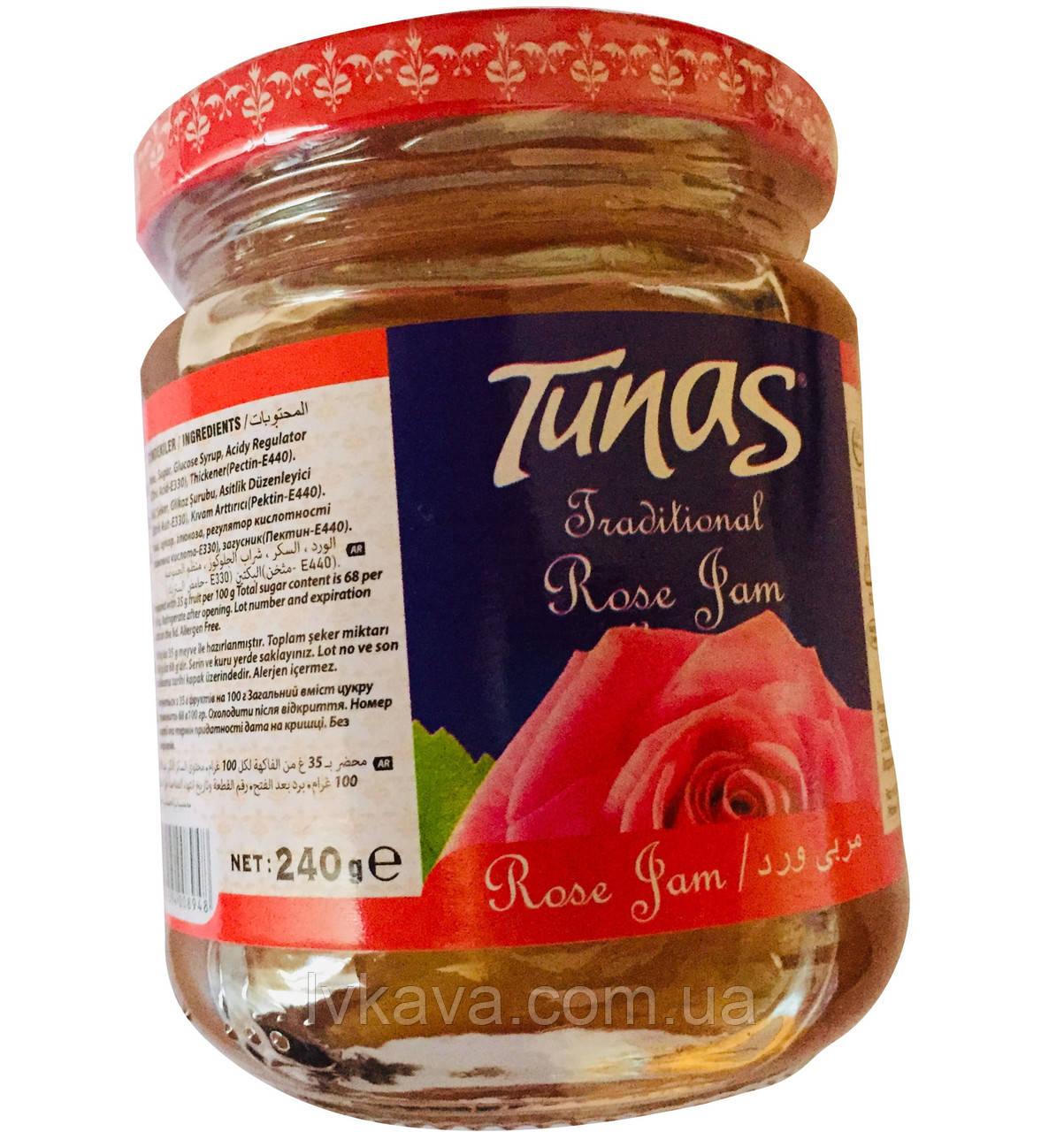 Джем розовый Tunas , 240 гр