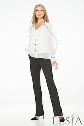 Біла шифонова блуза з рюшами Lesya Іонел.
