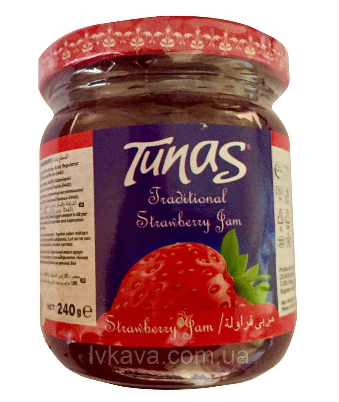 Джем полуничний Tunas , 240 гр