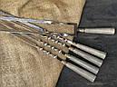 """Шампура подарункові з дерев'яними ручками """"Версаль 2"""" + подвійний шампур, в шкіряному сагайдаку, фото 3"""