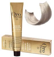 Безаммиачная крем-краска для волос Fanola Oro Therapy Extra №10/1 Blonde platinum ash extra 100 мл