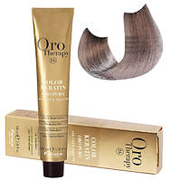 Безаммиачная крем-краска для волос Fanola Oro Therapy №10/21 Platinum blonde violet ash  100 мл