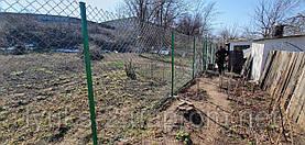 Забор из сетки Рабица в ПВХ под ключ